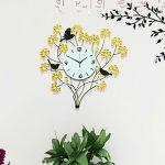 นาฬิกาติดผนัง รุ่นช่อดอกไม้พลอยเหลือง JT1015