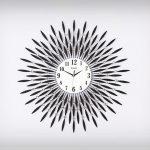 นาฬิกาโมเดิร์นติดผนัง รุ่นใบไม้พลอยใหญ่ M1192