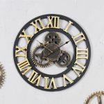 นาฬิกาติดผนังสไตล์วินเทจ รุ่นเฟืองทองโรมัน