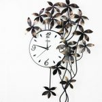 นาฬิกาติดผนังสวยๆ รุ่นดอกไม้ห้อย