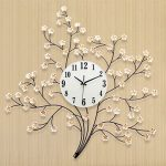 นาฬิกาโมเดิร์นแขวนผนัง รุ่นช่อดอกเหมย
