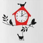 นาฬิกาติดผนัง Modern รุ่นบ้านนกแดง