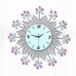นาฬิกาโมเดิร์นตกแต่งบ้าน รุ่น JT1410 ดอกไม้ม่วง