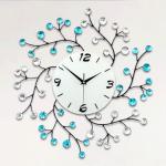 นาฬิกาแขวนผนัง กิ่งไม้เกลียวพลอยฟ้า