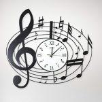 นาฬิกาติดผนังเก๋ๆ รุ่นโน๊ตดนตรี