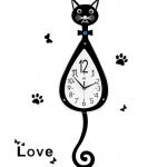 นาฬิกาติดผนัง รุ่นแมวดำ รหัส JT1636