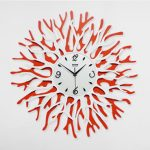 นาฬิกาติดผนัง Modern Style รุ่นปะการังแดง