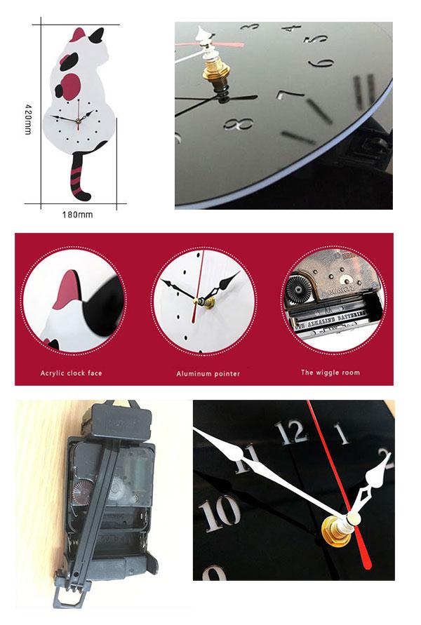 นาฬิกาติดผนังรูปแมวน่ารัก